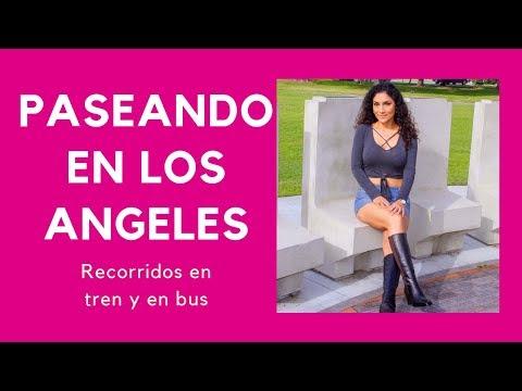 Recorriendo Los Angeles en tren y en bus