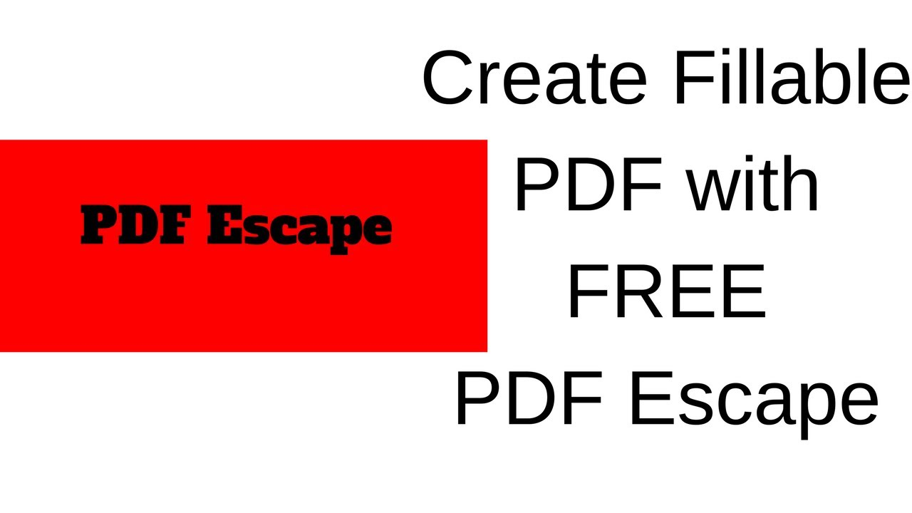 how to a create fillable pdf with pdf escape youtube