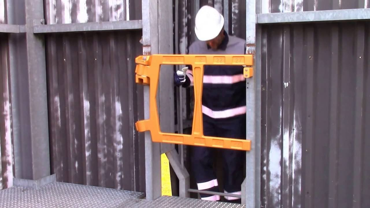 Self closing industrial safety gates youtube self closing industrial safety gates sciox Image collections