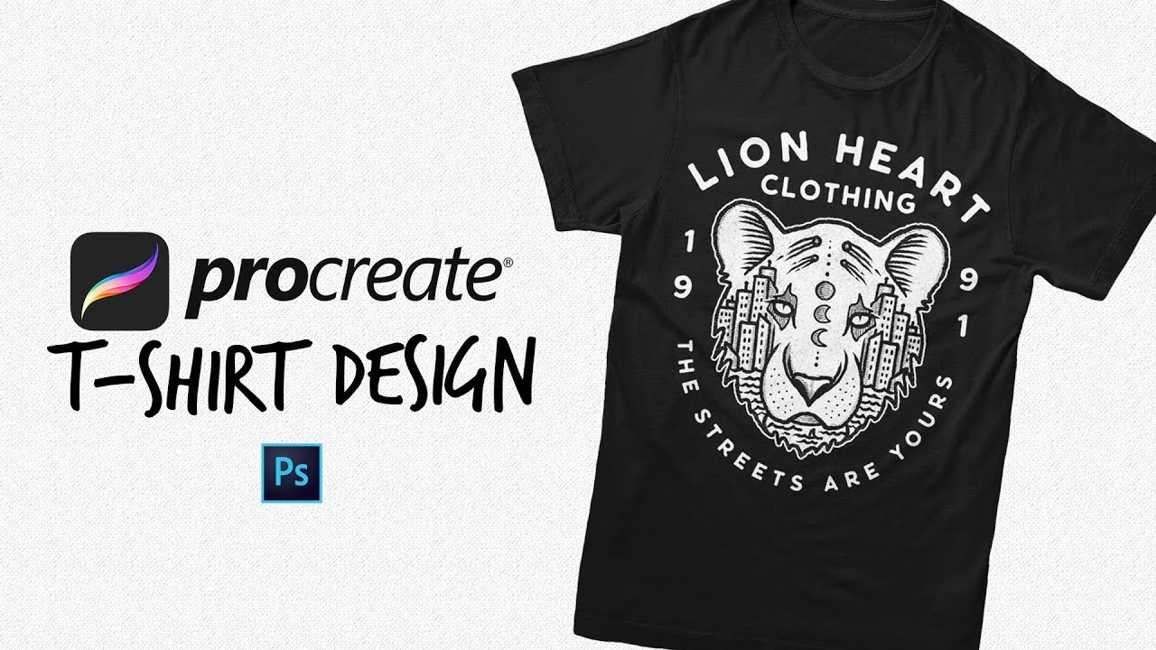 Turning My Procreate Sketch Into A T Shirt Design Youtube