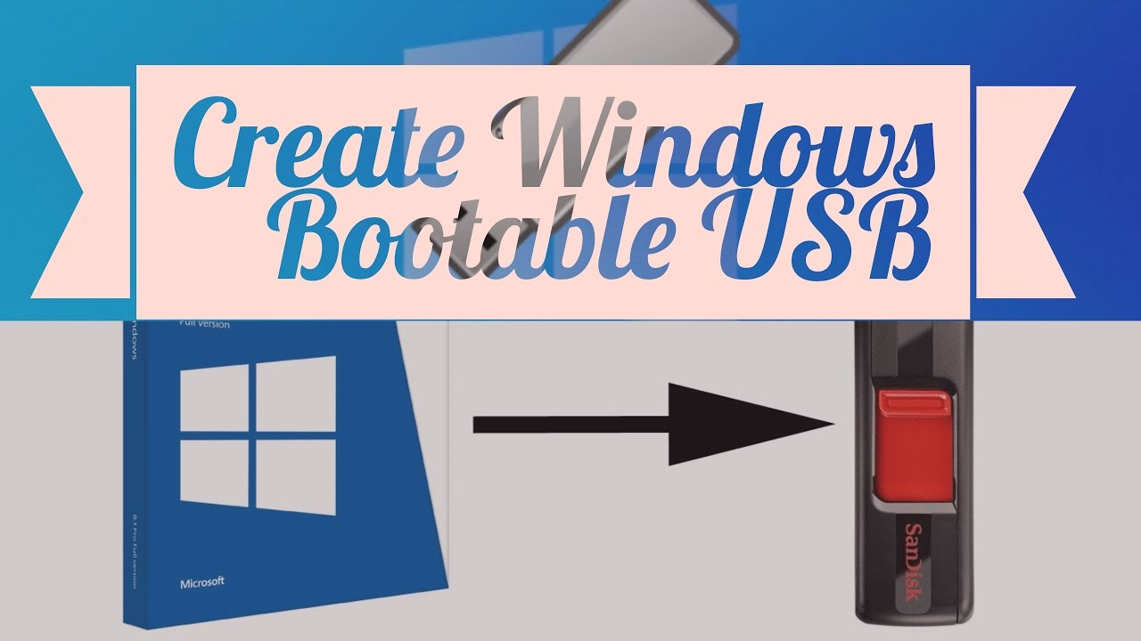 how to create a bootable usb diskpart