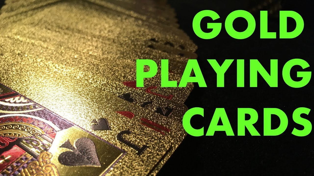 24 KARAT GOLD PLAYING CARDS