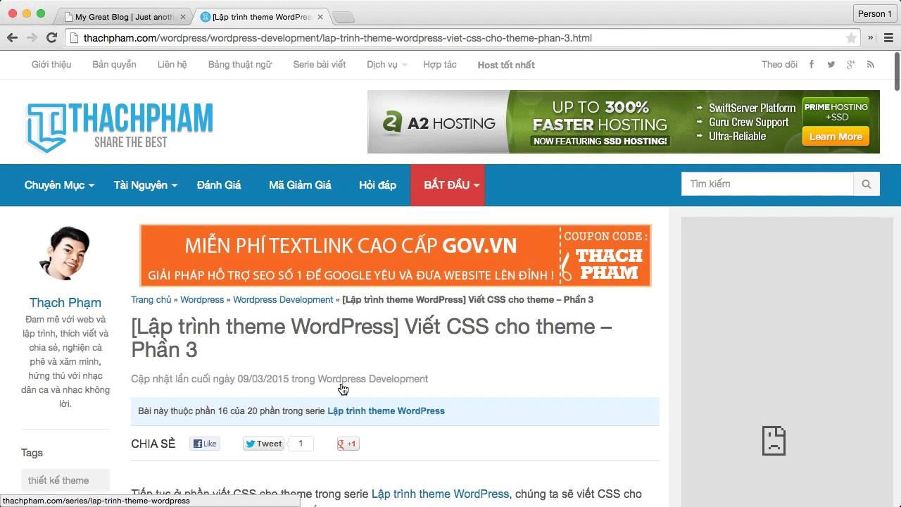 [Lập trình theme WordPress - 17] Viết CSS cho theme phần 3