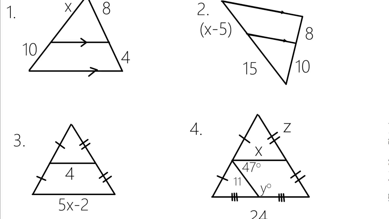 Triangle Proportionality Theorem And Triangle Midsegment