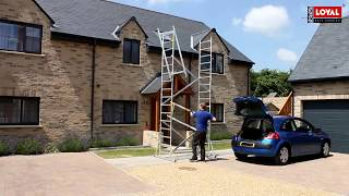 How to assemble a Super DIY 5 Scaffold Tower once unloaded from a small hatchback.