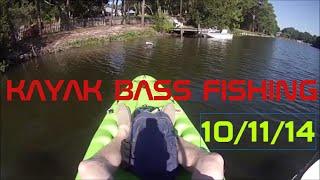 6 Bass on kayak in Destin, Fl. - 10/11/2014