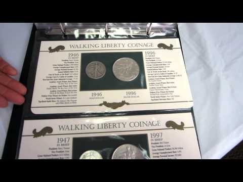 Walking Liberty Silver Dollars And Half Dollar Collection