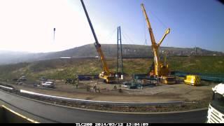 cable stay bridge installation ebbw vale