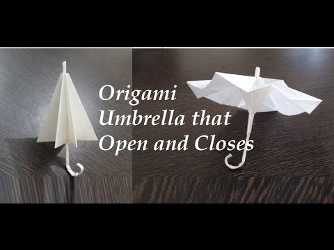 Origami Umbrella | THAT OPEN AND CLOSES