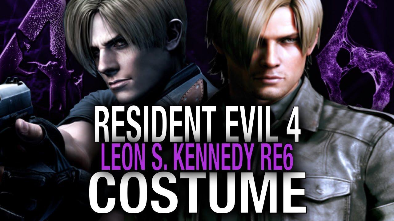 Resident Evil 4 Leon Re6 Costume Youtube