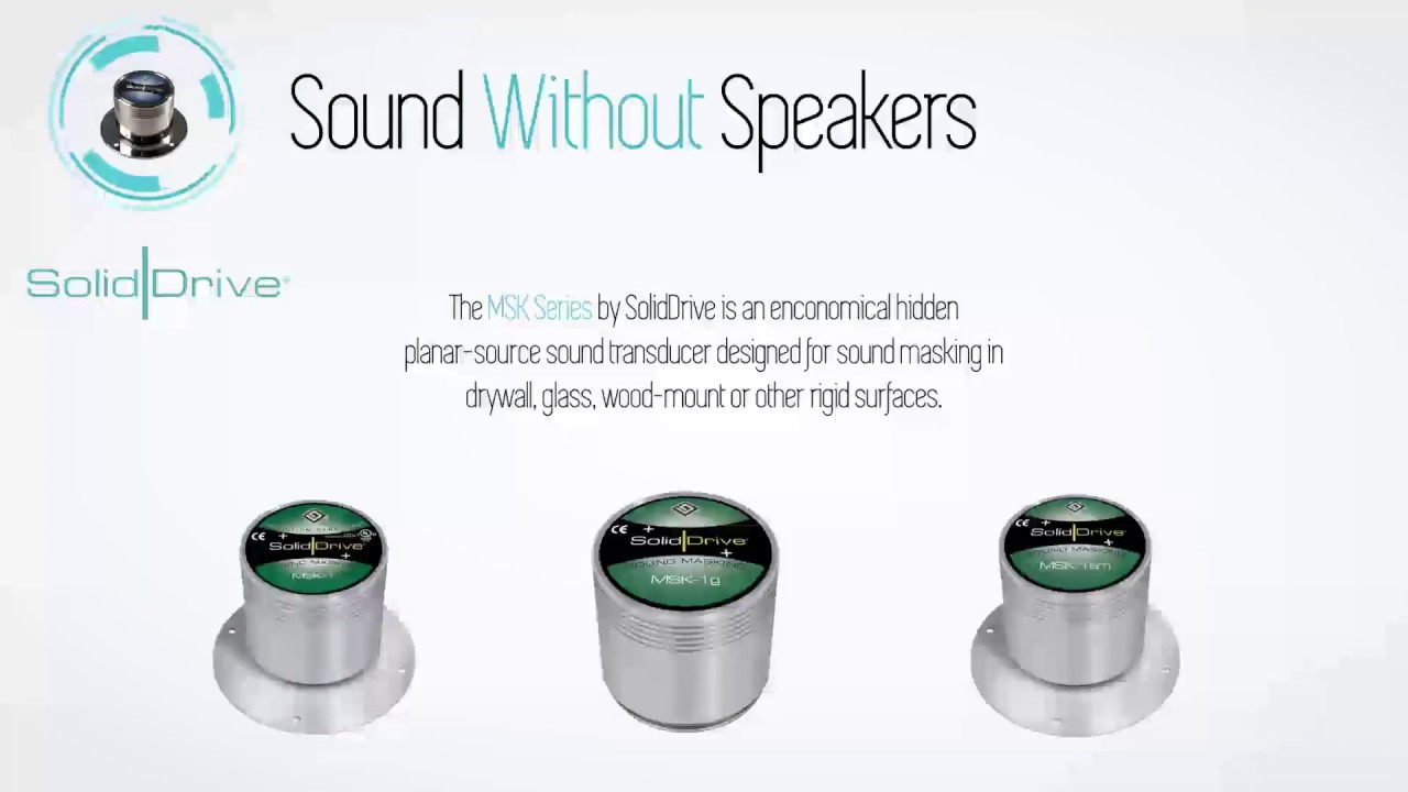 SolidDrive Sound Transducers | Sound without Speakers