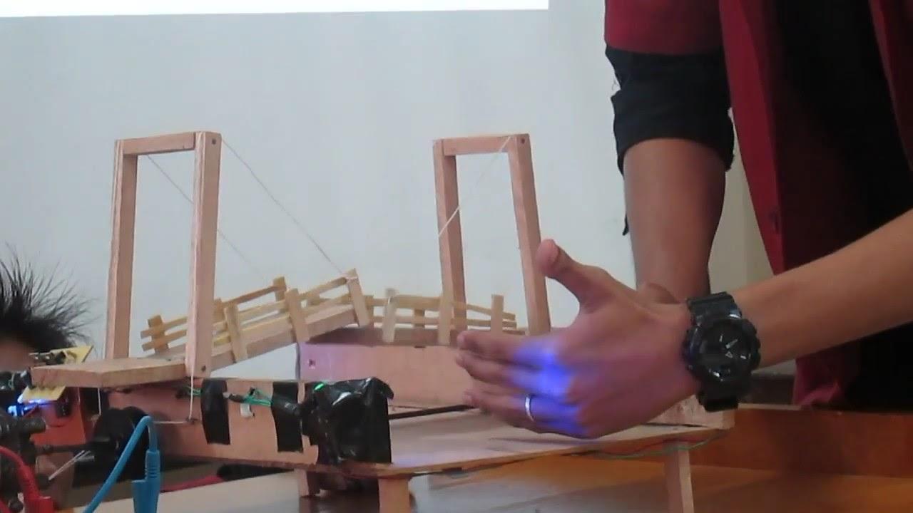 Miniatur Jembatan Angkat Otomatis  YouTube