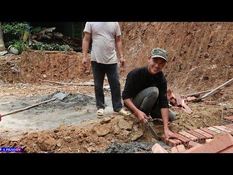 Xây dựng chuồng lợn cho gia đình em Tráng - Bữa cơm trưa nấu vội