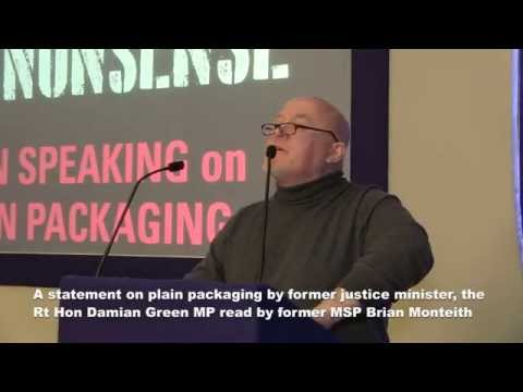 Plain Packaging: Statement by Damian Green MP read by Brian Monteith
