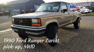 1990 Ford Ranger Lariat pick-up 4WD | VS-import.nl