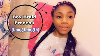 My box braid hair process //dezireegang