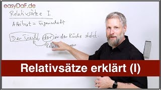 Deutsch lernen - Relativsätze erklärt (I)