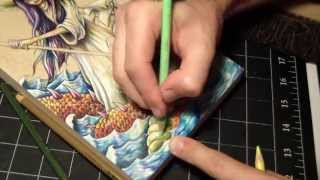 Time lapse Prismacolor pencil and acrylic painting on wood by Bryan Collins