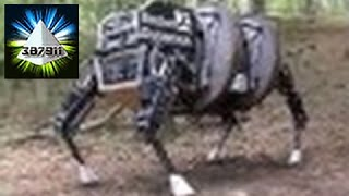 DARPA ★ Legged Squad LS3 Quadruped Robot Mule Follows Tight 👽 Robot Running