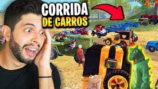 TODOS OS CARROS DO MAPA!?! A MAIOR CORRIDA DO FREE FIRE!!!