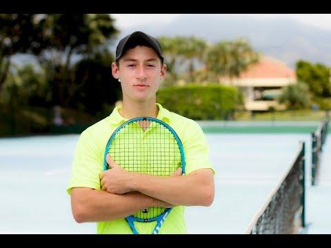 David Cruz Ossa - Tennis college recruiting video