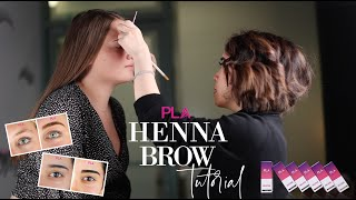 PLA Henna Brow Laขnch & Tutorial   How To Do Henna Brows