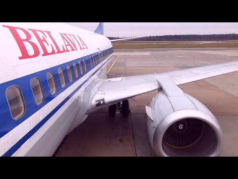 Belavia Belarusian Airlines Kiev - Minsk on vintage Boeing 737-300