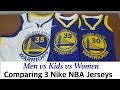 Nike NBA Swingman Jersey Comparison Men vs Women vs Kids