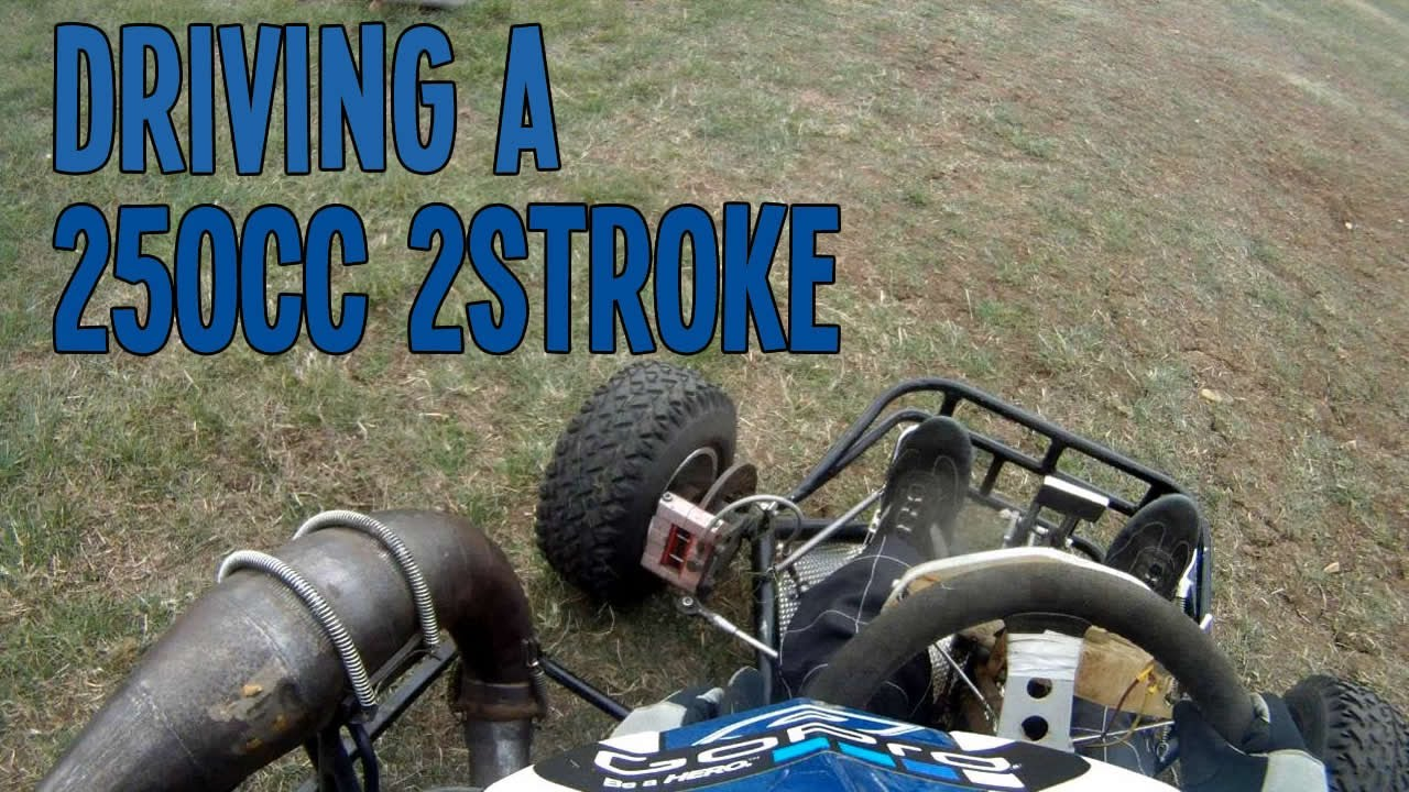 GoPro HD: Driving a 250cc 2 stroke First Time | 250cc 2s Go Kart