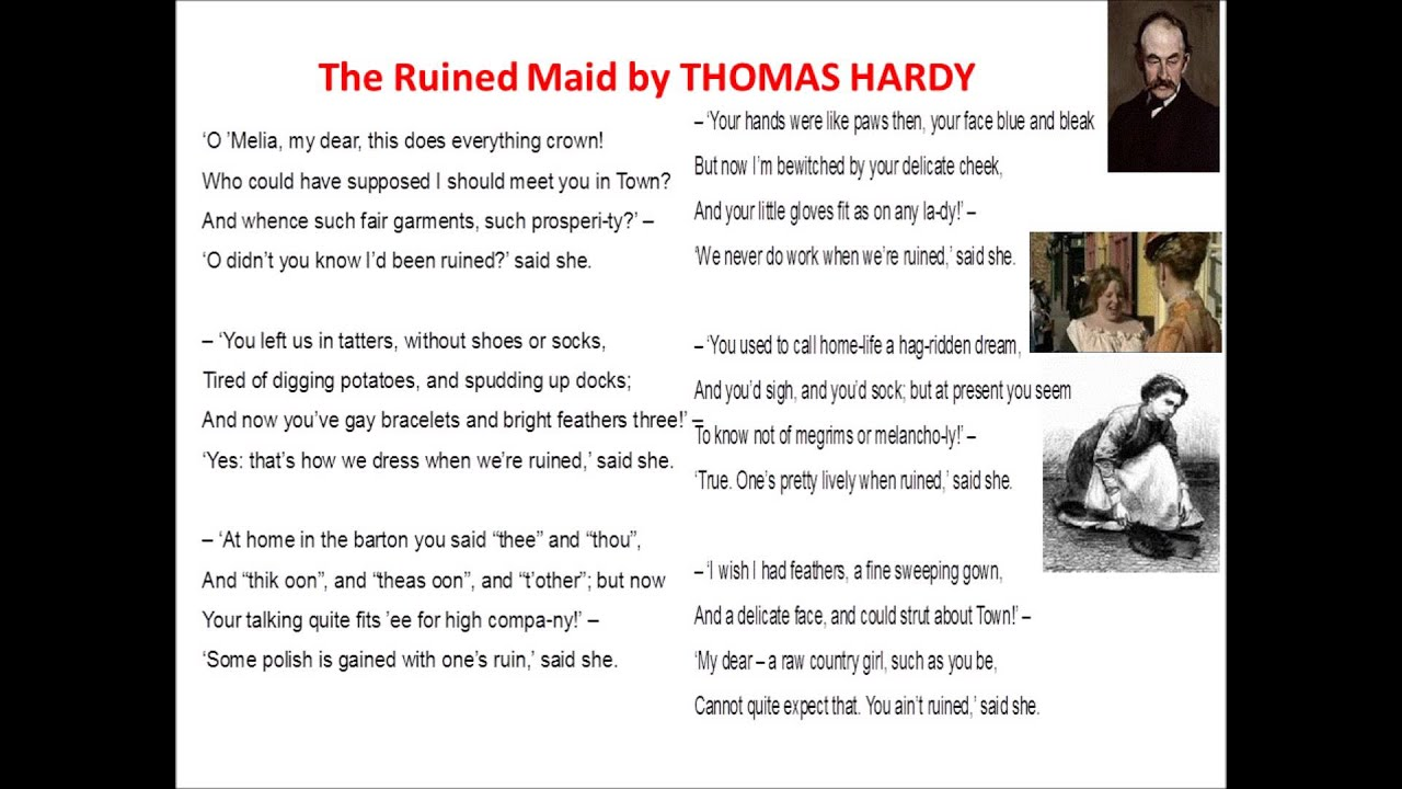 thomas hardy the ruined maid
