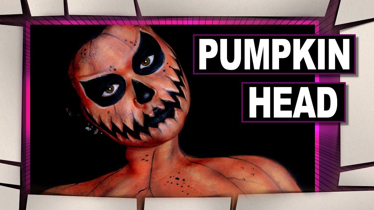 Pumpkin Halloween Makeup Tutorial - YouTube