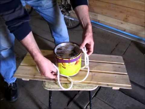 Как застропить веревкой цилиндрический предмет