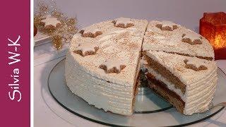 Weihnachtstorte / Zwetschgen-Zimt-Torte / Pflaumentorte / ohne Gelatine