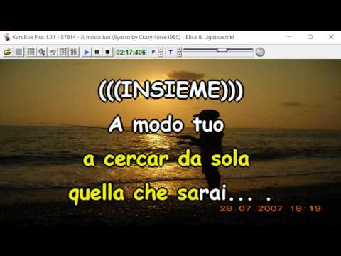 Elisa & Ligabue - A modo tuo (duetto) (cori) (Syncro by CrazyHorse1965)  Karabox - Karaoke