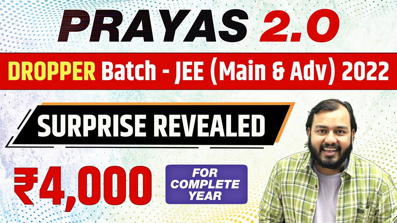 Download REVOLUTION is Back. Prayas 2.O - Dropper Batch for JEE (Main & Advanced) 2022 With DOUBT ENGINE