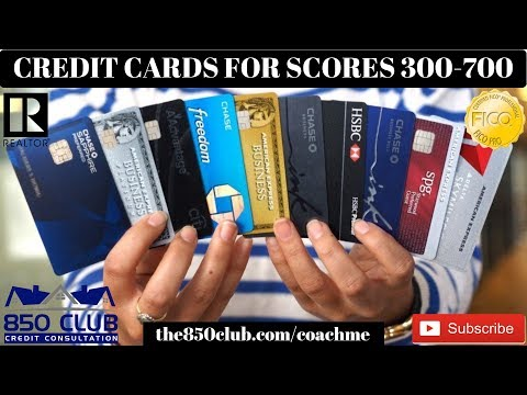 Credit Card Levels For Scores 300 - 700: Capital One, MyFICO, Ultra, Bankruptcy, Amex, Business