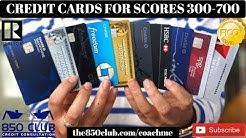 Credit Card Levels For Scores 300 - 700:Capital One,MyFICO,Ultra,Bankruptcy,Amex,Business