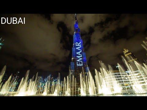 Dubai Fountain Show ।।। Burj Khalifa Water Dance …… Mohammad Maaz Khan