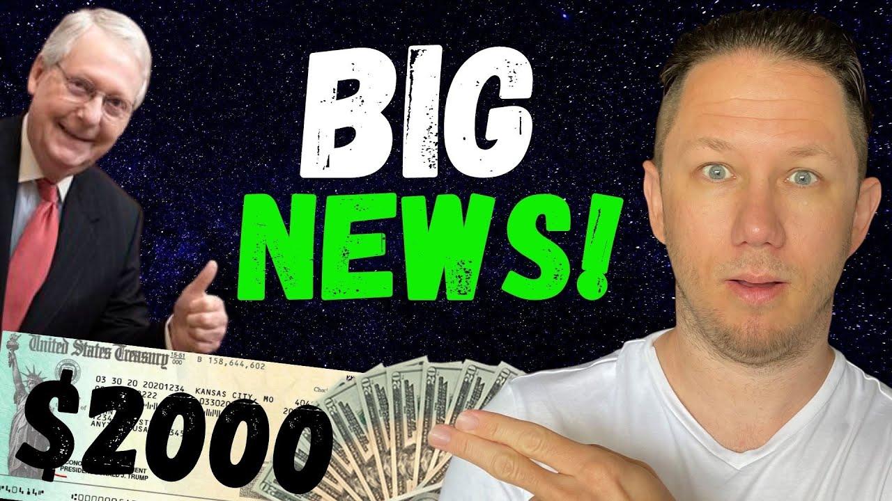 MITCH WANTS $2000 STIMULUS CHECKS!! Second Stimulus Check Update