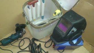 Ящик для сварочного аппарата из канистры.