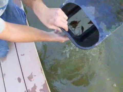 Concrete pond skimmer rev b youtube for Homemade pond skimmer designs
