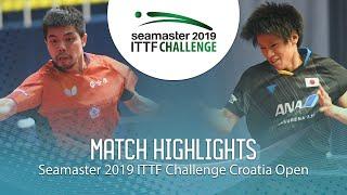 Chuang Chih-Yuan vs Togami Shunsuke | 2019 ITTF Challenge Croatia Open (1/4)