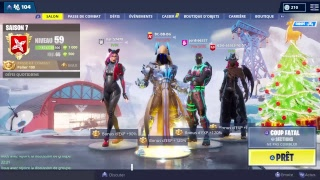 """PASSAGE IN PALIERS 100 """"ROI OF GLACES"""" on FORTNITE BATTLE ROYALE - GOOD YEAR TO ALL POTES"""