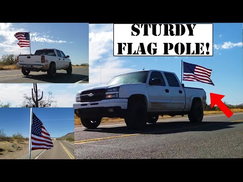 How To Make A STURDY Flag Pole For Your Truck! | DIY