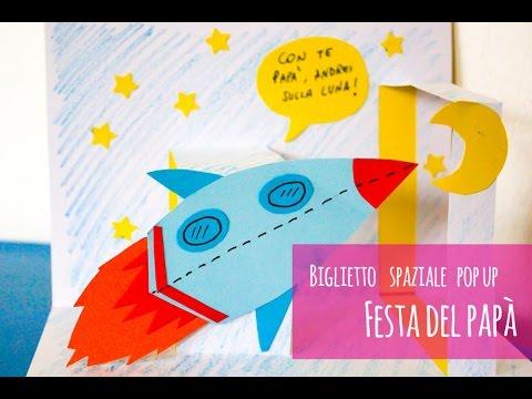 Lavoretti Festa Del Papà Biglietto Pop Up Spaziale Youtube