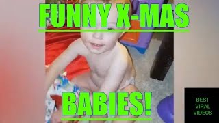 funny baby christmas videos - funny baby and first christmas - funny baby video