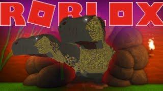 BIG DINOSAURS STUCK IN EINEM TINY CAVE! ROBLOX lustige kinderfreundliche Rollenspiel mit Dinosauriern