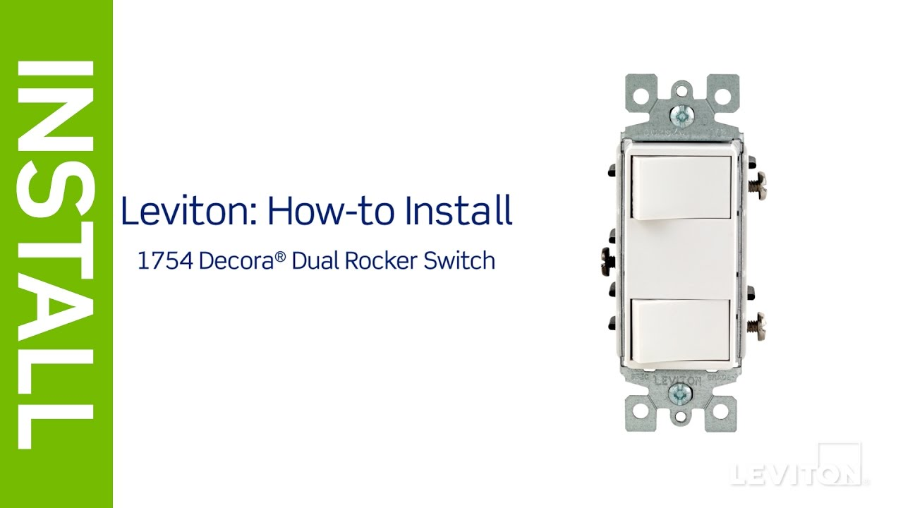 leviton presents how to install a decora combination device with wiring a gfci outlet and a double rocker switch in the a dual gang [ 1280 x 720 Pixel ]