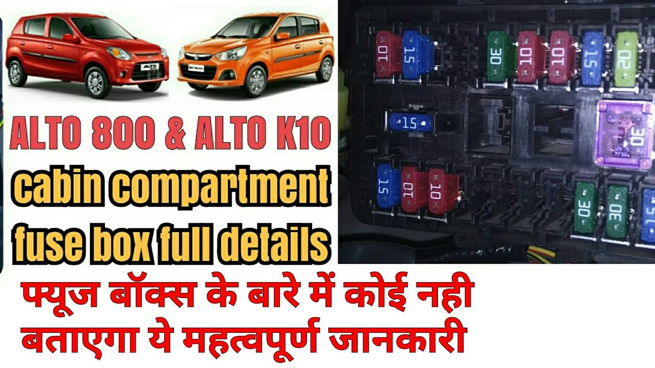hight resolution of alto 800 alto k10 fuse box full details youtube