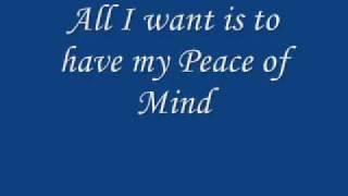Boston Peace Of Mind Lyrics